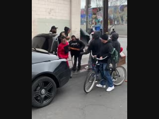 Lil Pump & Pizza party on Skidrow