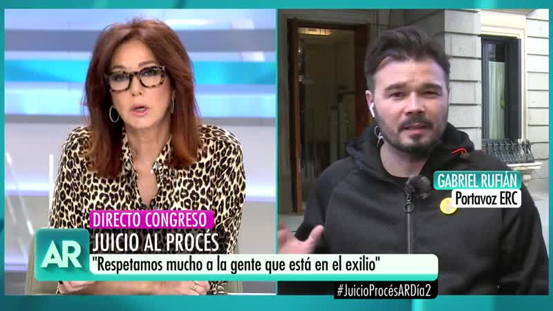 Programa Ana Rosa 3596 X 13 febrero 19 - Arcadi sobre presupuestos, juicio procés, vs Terradillos, Mayka Navarro, Rufián HD mite