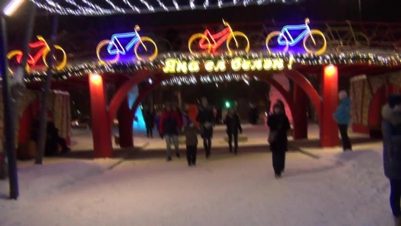 1)Открытие ёлки в городском парке СемьЯ - Прогулка по парку СемьЯ 25.12.2017 (Нижнекамск)