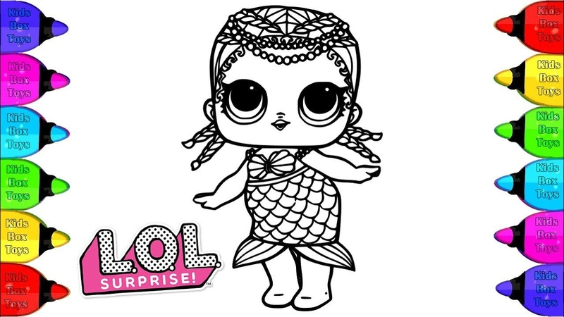 Coloring LOL Surprise Doll Coloring pages | How to Paint LOL Doll Coloring pages | Kidsboxtoys