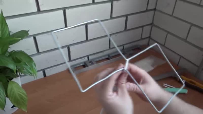 Как сделать антенну своими руками! Принимает цифровые каналы