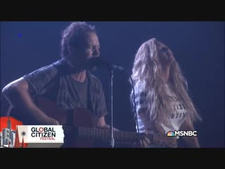 Beyonce & Pearl Jam - Redemption Song (Live @ Global Citizen Festival 2015)