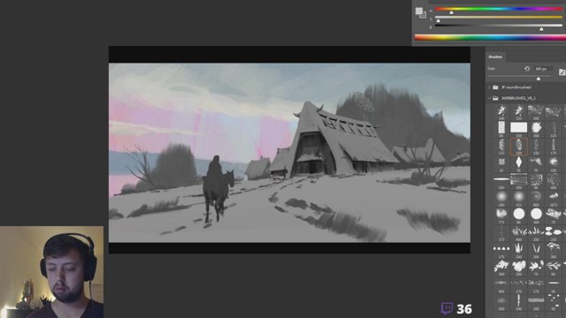 Winterscape painting XMAS! JOIN THE DISCORD artstation digitalart gameart cgart painting drawing