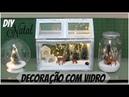 DIY ENFEITE DE NATAL COM VIDRO do lixo ao luxo LETICIA ARTES