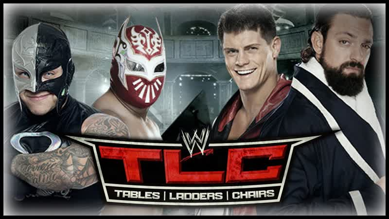 (WWE Mania) TLC 2012 Rey Mysterio Sin Cara vs. Team Rhodes Scholars (WWE Tag Team Titles 1 Contendership Tables Match)