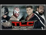 (WWE Mania) TLC 2012 Rey Mysterio &amp Sin Cara vs. Team Rhodes Scholars (WWE Tag Team Titles #1 Contendership Tables Match)