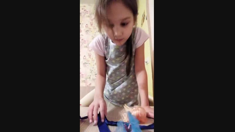 лапки царапки как зделать платье для куклы с лентачкой