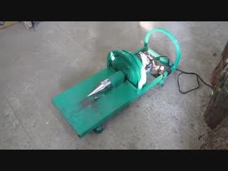📹 Видео пособие: как сделать дровокол из двигателя от стиральной машины