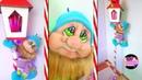 Duende navideño faccionado con media velada y farol hecho de cartón Moldes Gratis Epdlm