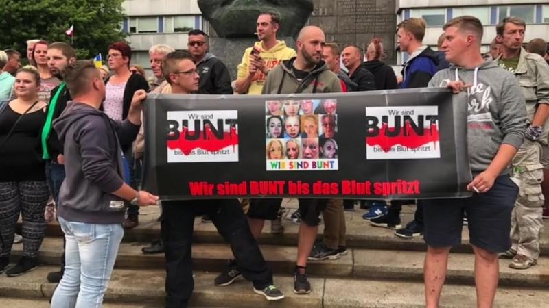 Chemnitz- Der Videobeweis woher die Gewalt kam Massen in Bewegung mehr als 5000 !!