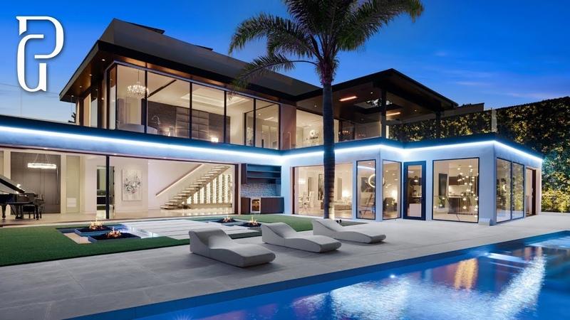 $16 Million Dollar Beverly Hills Modern Mansion (1420 Laurel Way, Beverly Hills, CA 90210)