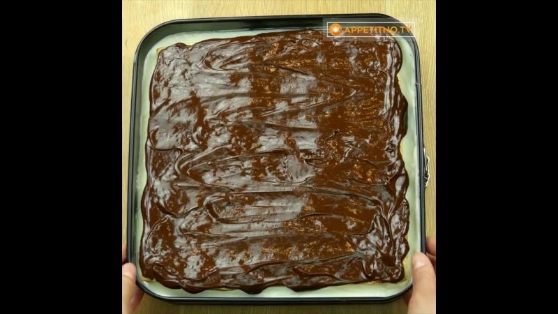 Улетное пирожное со слоеным тестом и ванильным кремом! Вам надоест раздавать рецепт!