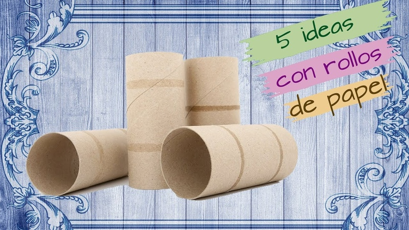 3 Ideas ORIGINALES con ROLLO DE PAPEL HIGIENICO