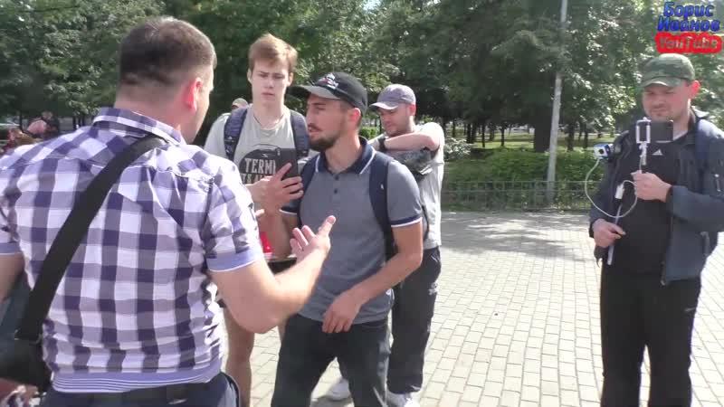 ♐ Автохамы у памятника Ленину часть 2 Идите работать бездельники♐