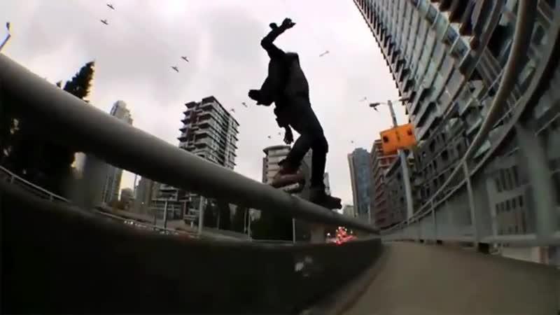 Dude destroys rail