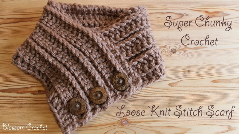 Super chunky crochet - Easiest Fastest Knit Stitch Scarf Cowl