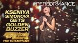 Kseniya Simonova Sand Artist Gets Terry Crews' GOLDEN BUZZER - America's Got Talent The Champions