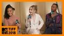 Amandla Stenberg, Sabrina Carpenter, Algee Smith on 'The Hate U Give' | TIFF 2018 | MTV News