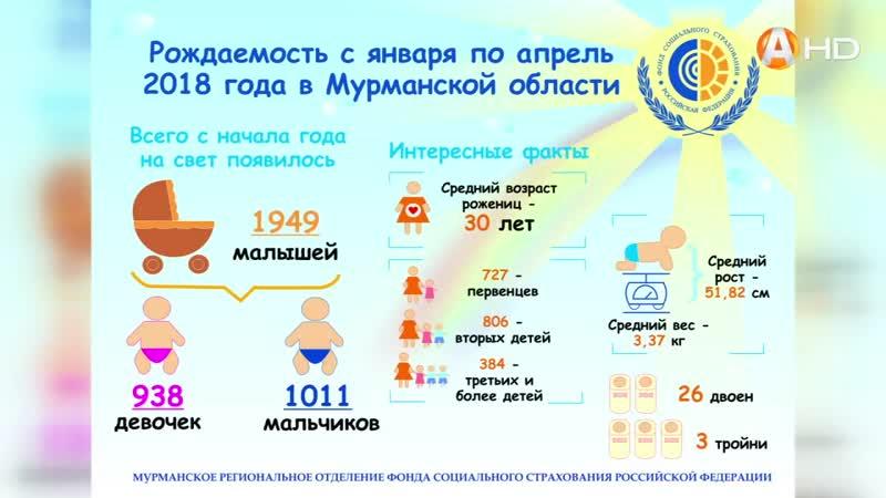Арктик ТВ В Мурманской области больше рождается мальчиков
