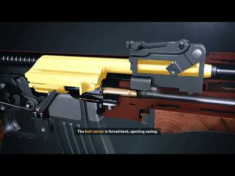 Работа внутренних частей AK 47 HD 1080 p