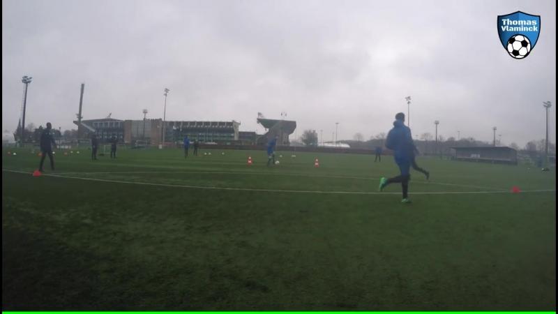 Passing Drill Football (5-7 spelers) - technical drill - Thomas Vlaminck Techniektraining