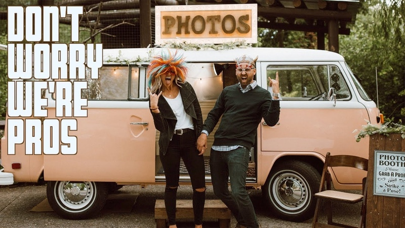 DON'T WORRY WE'RE PROFESSIONALS | VW BUS PHOTO BOOTH | AVIARY WEDDING DAY