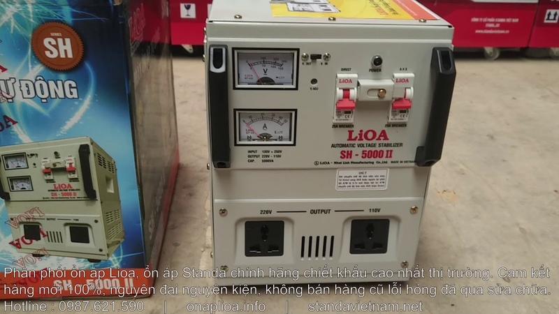 [2019] Ổn Áp Lioa 5KVA 5KW 5000W SH-5000II Dải 150V~250V Thế Hệ Mới Giá Rẻ