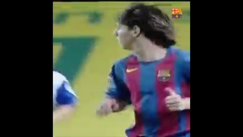OnThisDay 14 years since the official debut of Leo Messi with the first team .mp4