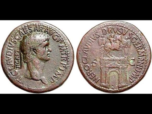 Сестерций 41 н э Клавдий Монета Римской Империи Claudius Sestertius 41 AD
