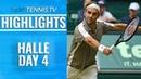 Federer Survives Tsonga Thriller Zverev Also Advances Halle 2019 Highlights Day 4