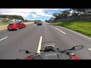 HONDA NC700X TOP SPEED RUN - 6th gear REV LIMITER