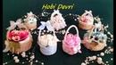DIY,Making Basket With Plastic Bottles Cap,Wedding Favors,Baby Shower, Pet Şişe Kapaklarından Sepet