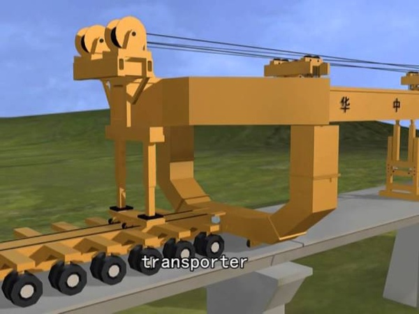 900t high speed railway beam launcher for tunnel