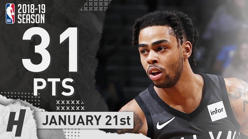 DAngelo Russell Full Highlights Nets vs Kings 2019.01.21 - 31 Pts, 8 Ast, 4 Rebounds!