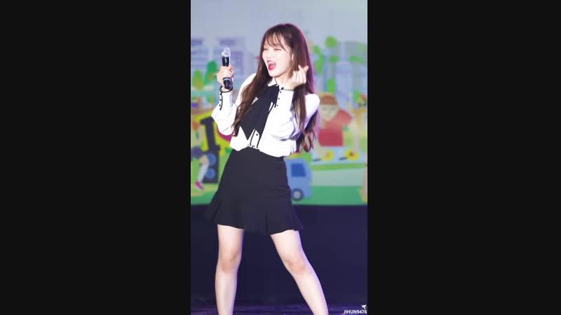 · Fancam · 180916 · OH MY GIRL - Je Taime (Seunghee focus) · 2018 Anyang Citizen Festival ·