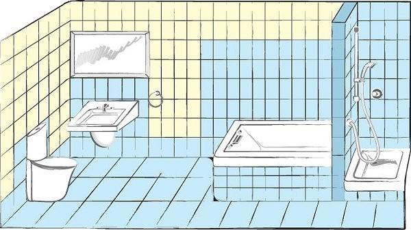 Гидроизоляция в ванной.