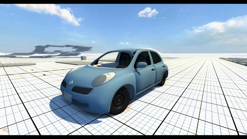 BeamNG.Drive Mod Nissan March Micra [WIP] Crash test