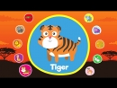Learn Wild Animals for Kids Video Flashcards
