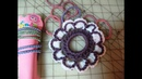 How to Crochet Flower pony tail holder rubber band