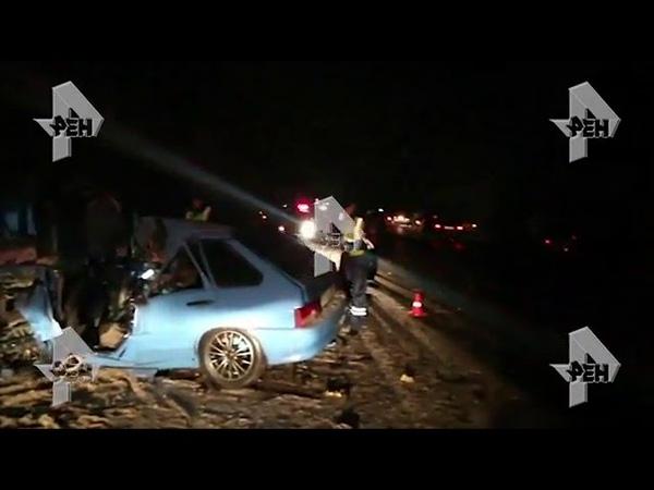 Видео легковушка всмятку после столкновения с автобусом под Владимиром