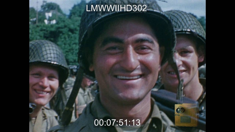 D-DAY TO GERMANY, 1944; EDITED PRIVATE FOOTAGE WITH NARRATION OF NORMANDY INVASION; CH - LMWWIIHD302