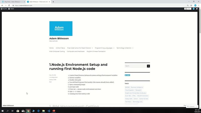 1 . Node.js Environment Setup and Running first Node js code