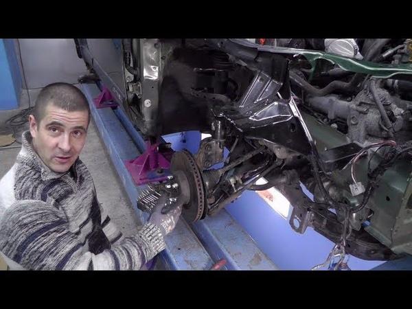 Subaru Outback. Скучное видео про сборку ходовки и снятия со стапеля)