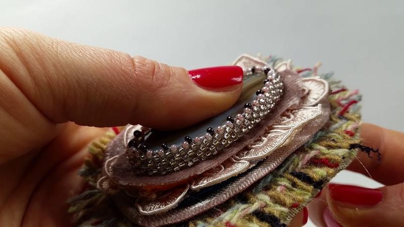 Как сделать брошь в винтажном стиле В стиле Шанель vintage brooch