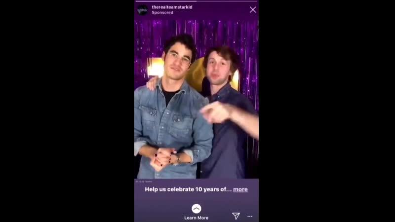 VIDEO Darren Criss and Nick Lang in a sponsored ad for Team StarKids kickstarter via Instagram