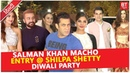 Salman Khan With Jacqueline At Shilpa Shetty Grand Diwali Party 2018 | Arpita, Aayush, Arbaaz