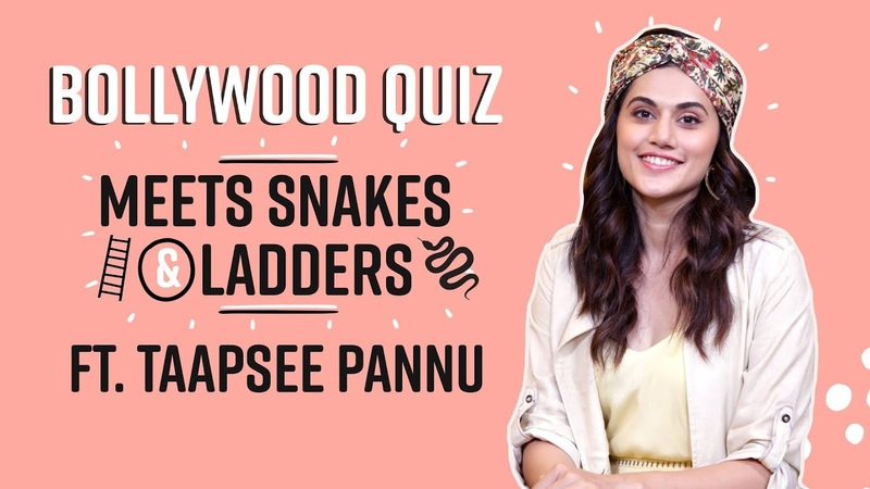 Taapsee Pannu's FUN QUIZ on Varun Dhawan Akshay Kumar Vicky Kaushal Snakes Ladders Game Over