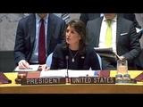 Ambassador Nikki Haley delivers remarks on North Korea sanctions.