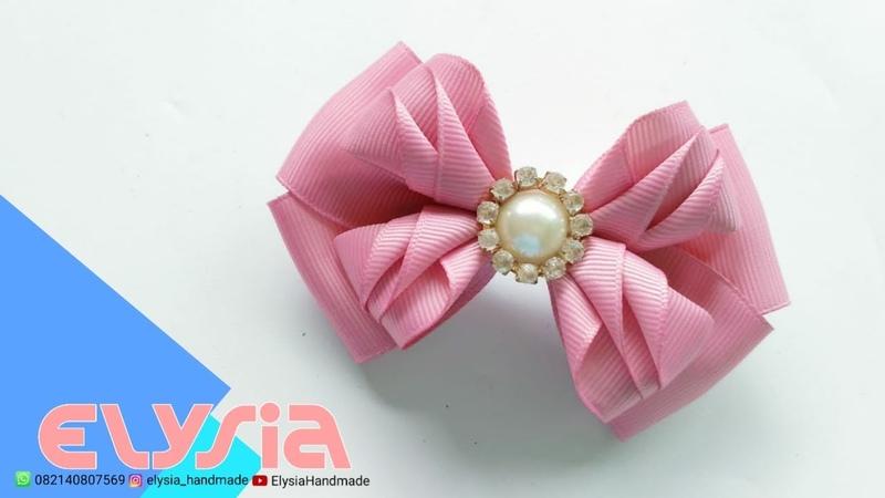 Camada de Fita 🎀 Laço Kanzashi 🎀 Ribbon Bow 🎀 DIY by Elysia Handmade
