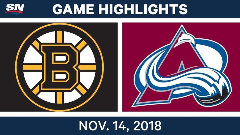 NHL Highlights | Bruins vs. Avalanche – Nov. 14, 2018